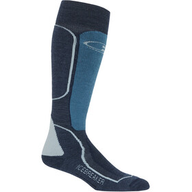 Icebreaker Ski+ Medium Over The Calf Socks Men Fathom Heather/Granite Blue/Blizzard Heather